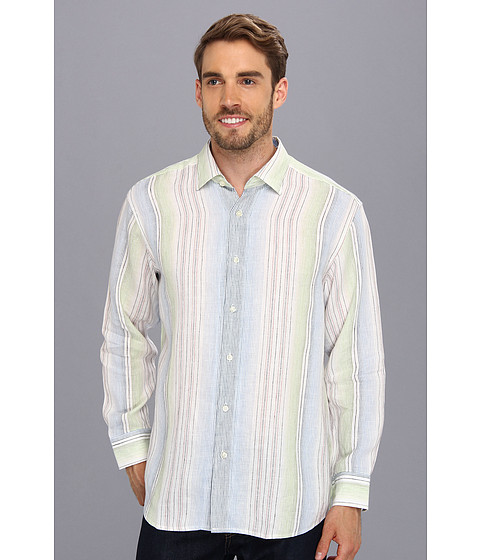 Tommy Bahama - Stripe Prix Racer L/S Shirt (Clear Sky Blue) Men