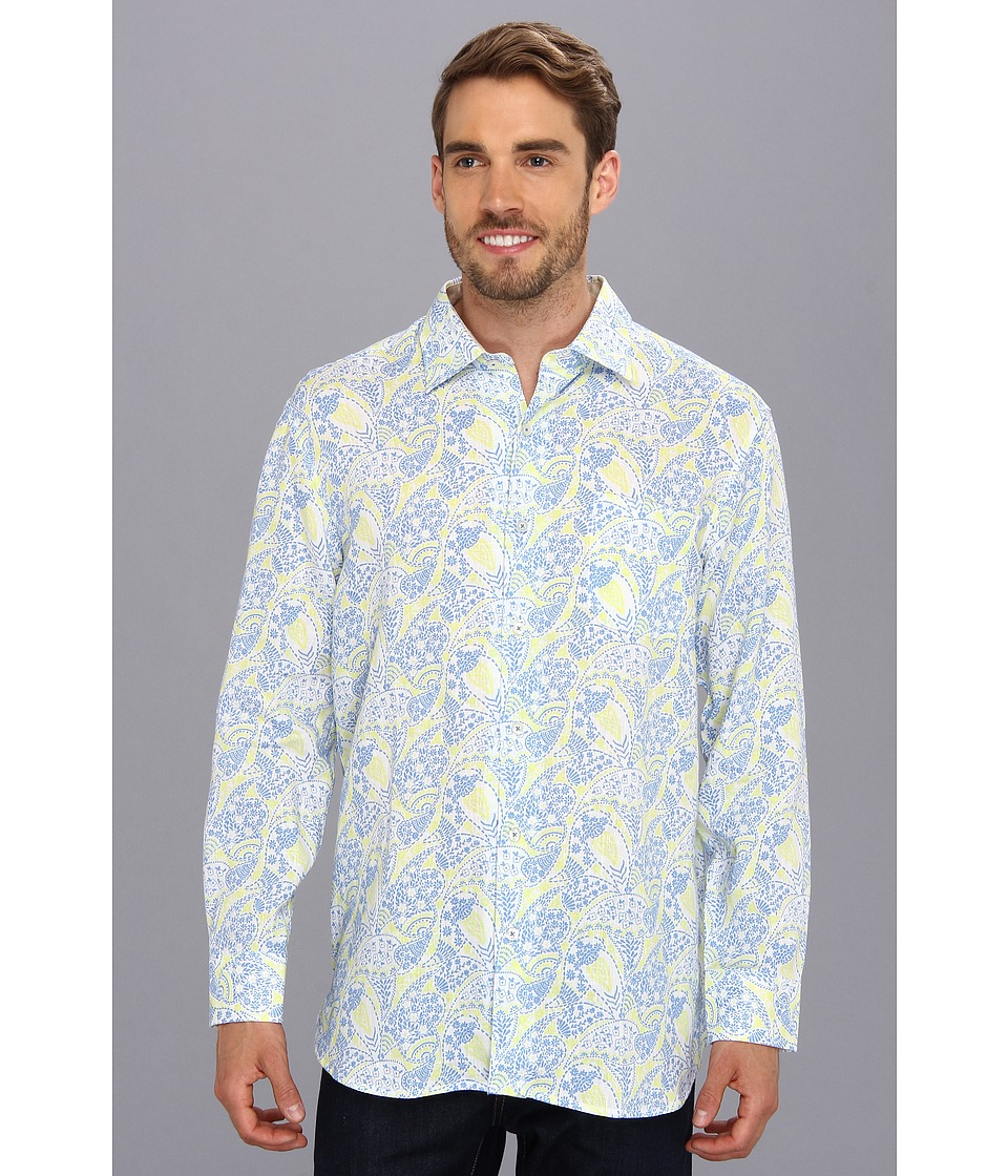 Tommy Bahama - Paisley Royale L/S Shirt (Clear Sky Blue) Men's Long Sleeve Button Up