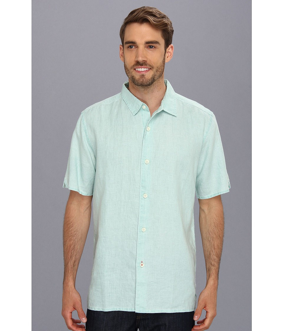 Tommy Bahama - Sea Glass Breezer Short Sleeve Shirt (Pale Turquoise) Men's Short Sleeve Button Up