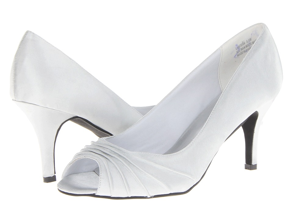 Annie - Lantern (Silver Satin) Women's Toe Open Shoes