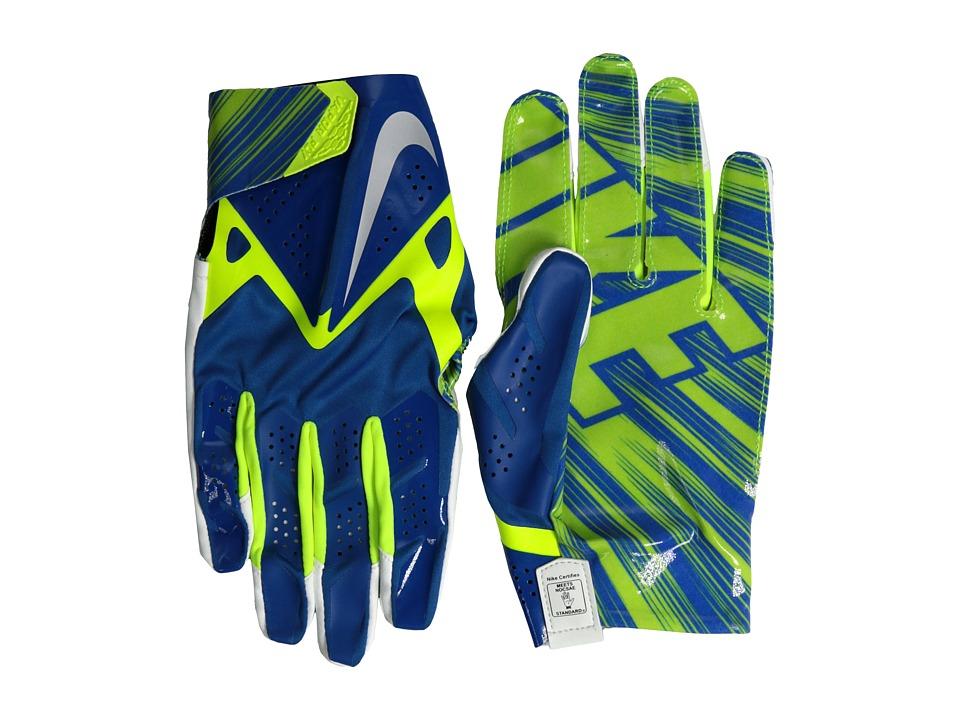 Nike - Vapor Fly (Military Blue/Volt/Metallic Silver) Gore-Tex Gloves