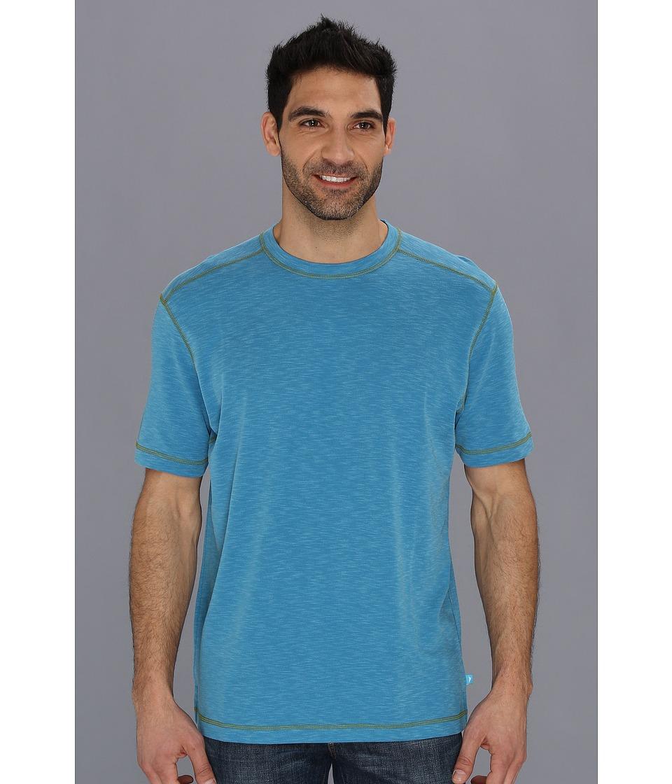Tommy Bahama Paradise Blend Tee Mens Short Sleeve Pullover (Blue)