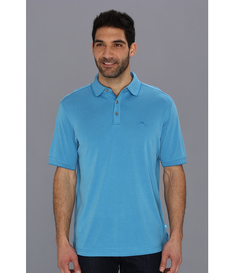 Tommy Bahama All Square Polo Mens Short Sleeve Pullover (Blue)
