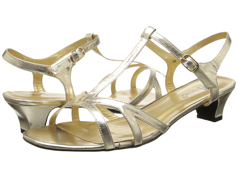 Annie - Edie (Gold Smooth Faille) Women's Shoes