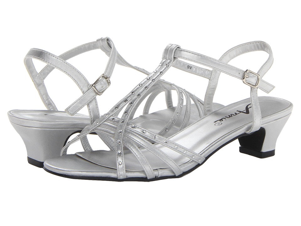 Annie - Evana (Silver Smooth) Women's Sling Back Shoes
