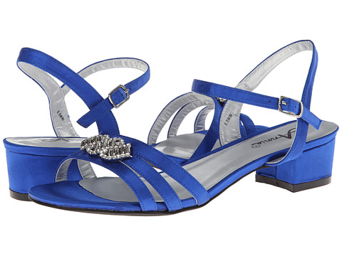 Annie - Paulina (Royal Blue Satin) Women's Sling Back Shoes