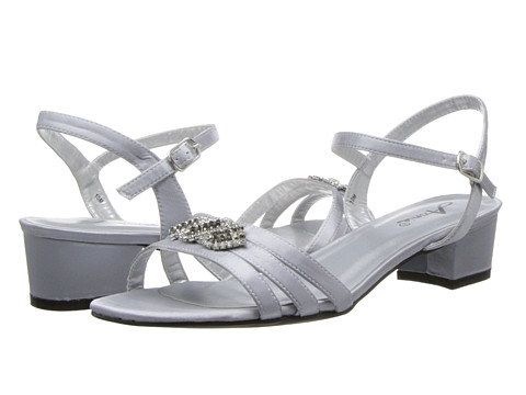 Annie Paulina (Silver Satin) Women's Sling Back Shoes
