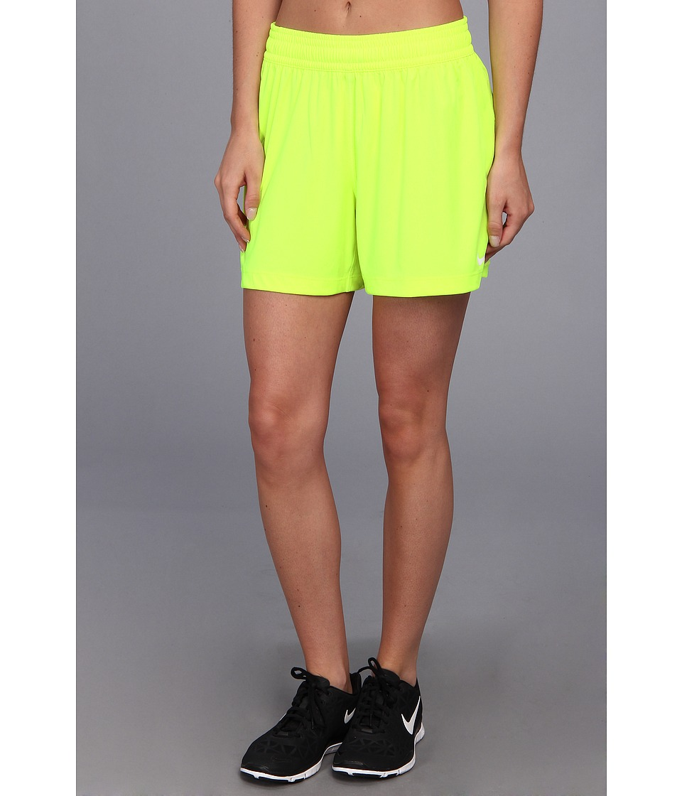 Nike - Nike 5 Fly Knit Short (Volt/White) Women's Shorts