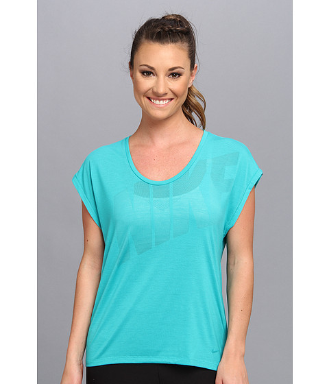 Nike - Nike Club Boxy Tee Logo (Turbo Green/Turbo Green) Women's T Shirt