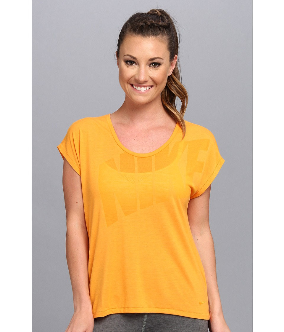 Nike - Nike Club Boxy Tee Logo (Kumquat/Kumquat) Women's T Shirt