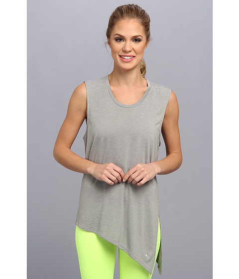 Nike - Nike Club Tie Tee II (Dark Grey Heather/Base Grey) Women's Sleeveless