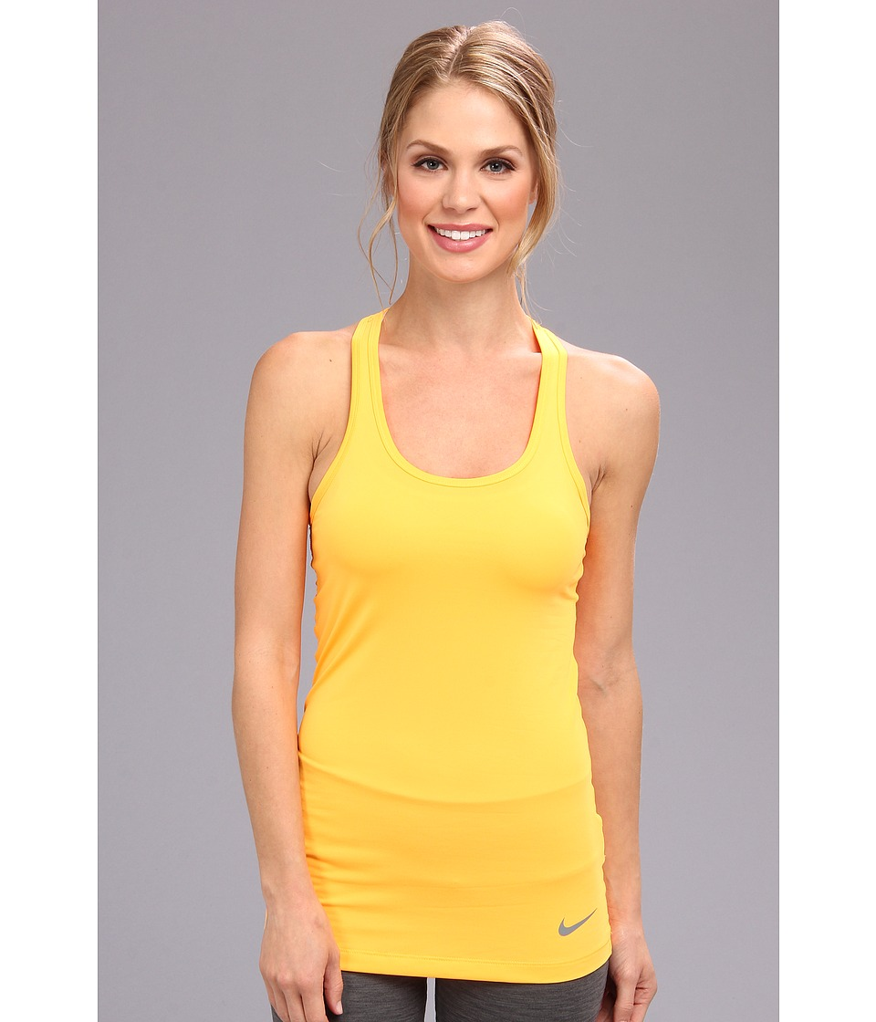 Nike - Dri-Fit Pro Hypercool Tank Top (Atomic Mango/Cool Grey) Women's Sleeveless