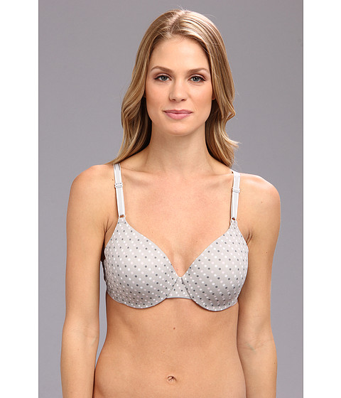 Warner's - This Is Not A Bra Full Coverage (Gray and Pink Dot) Women's Bra