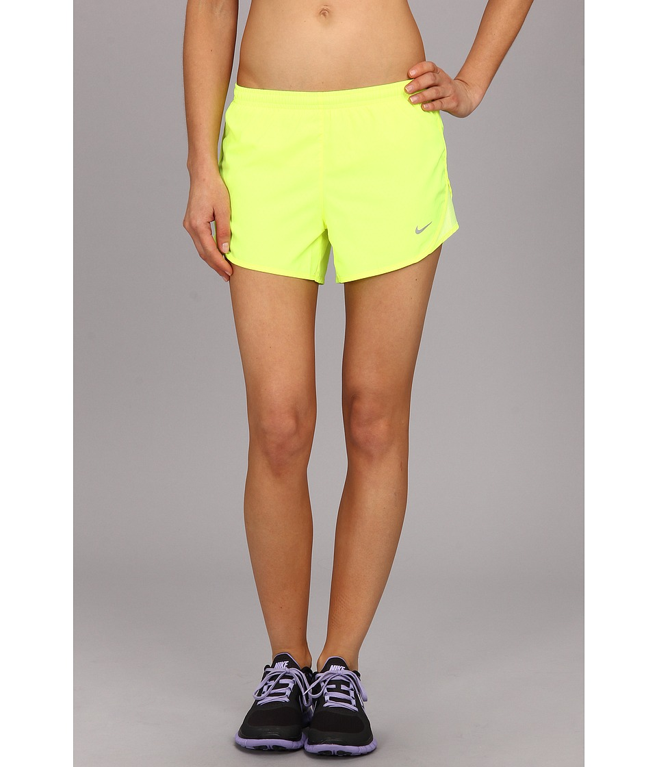 Nike - Mod Tempo Emboss Run Short (Volt/Volt/Black/Reflective Silver) Women's Shorts