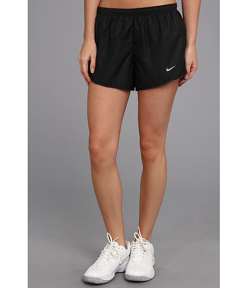Nike - Mod Tempo Emboss Run Short (Black/Black/Volt/Reflective Silver) Women's Shorts