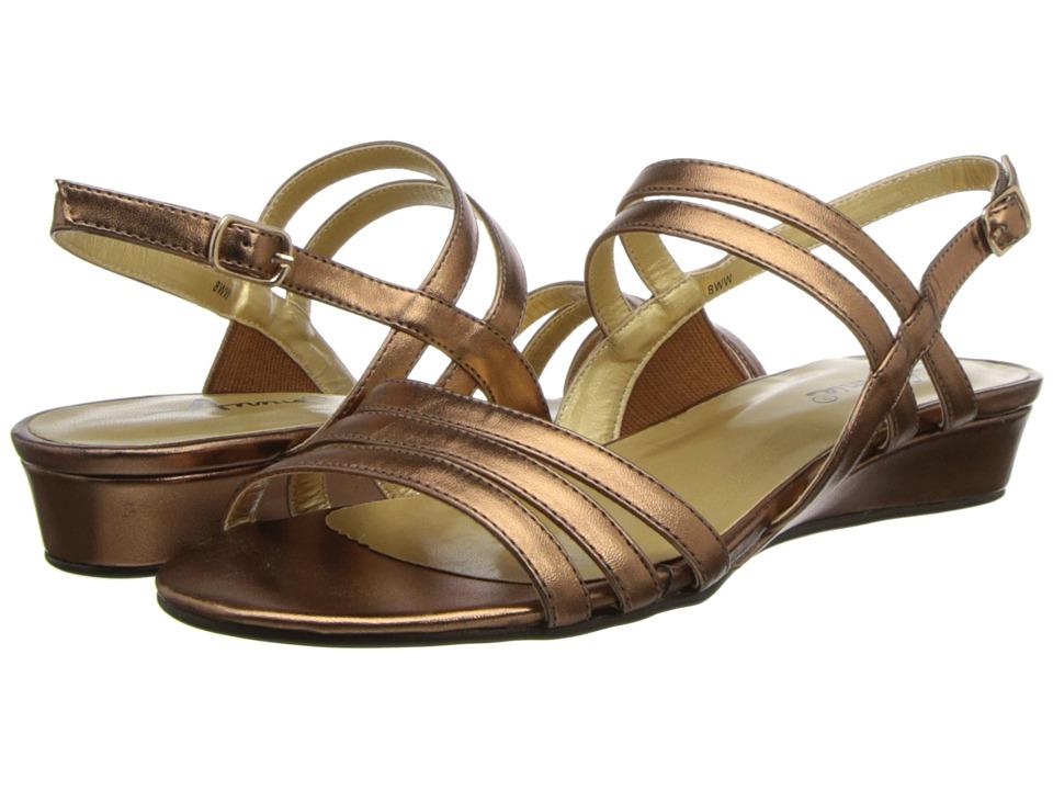 Annie - Phoebe (Bronze Kid PU) Women's First Walker Shoes