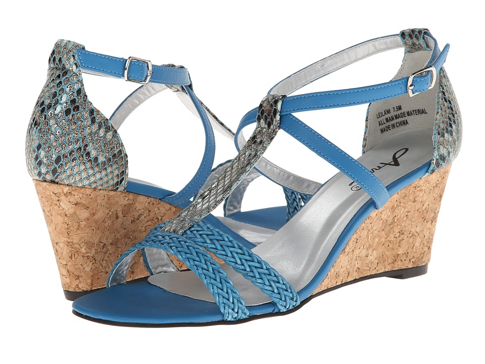 Annie - Leilani (Royal Blue Painted Snake) Women's Wedge Shoes
