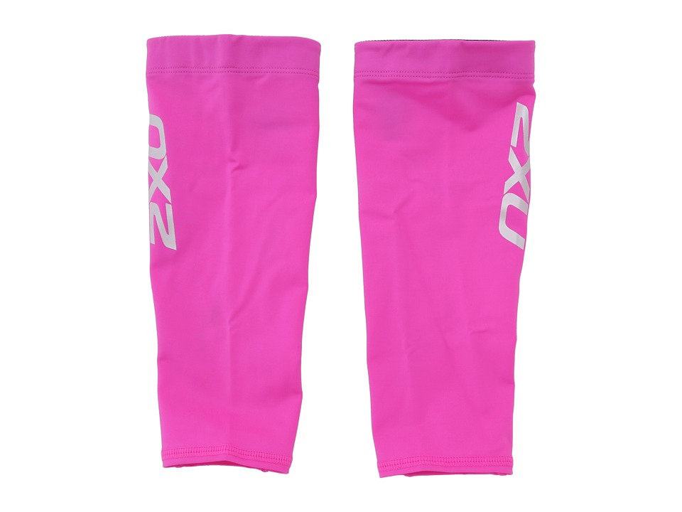 2XU - Non-Stirrup Calf Guard (Hot Pink/Hot Pink) Athletic Sports Equipment