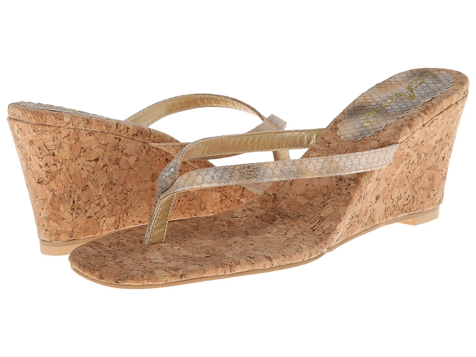 Annie - Ada (Tan Matte Snake) Women's Wedge Shoes
