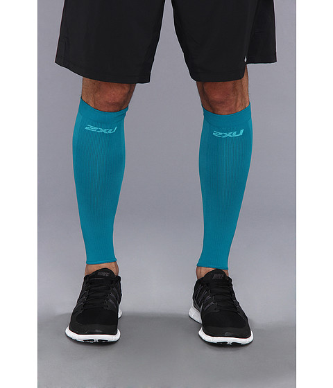 2XU - Performance Run Sleeve (Peacock/Peacock) Athletic Sports Equipment
