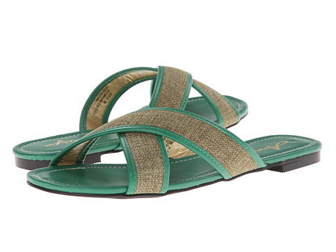Annie - Sofia (Green Raffia - Kid PU) Women