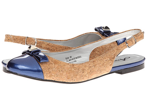 Annie - Elga (Navy) Women's Sling Back Shoes