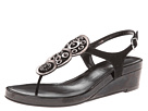 Vaneli - Kosey (Black Ecco Suede/Pewter Metallic Ferns Nappa/Black Ferns Patent) -