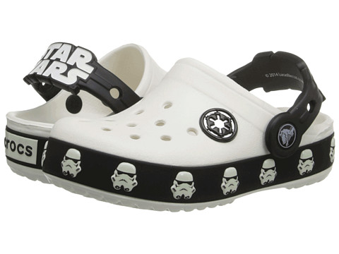 Crocs Kids - Star Wars Lighted Stormtrooper Clog (Toddler/Little Kid) (White/Black) Boys Shoes