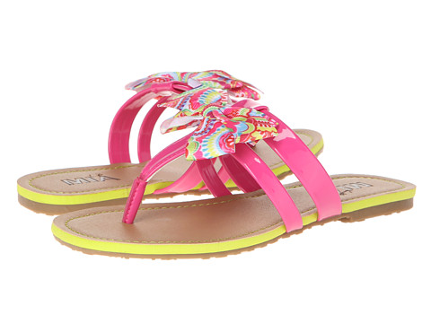 Mia Kids - Jodi (Little Kid/Big Kid) (Pink Patent/Flower Print Bow) Girl