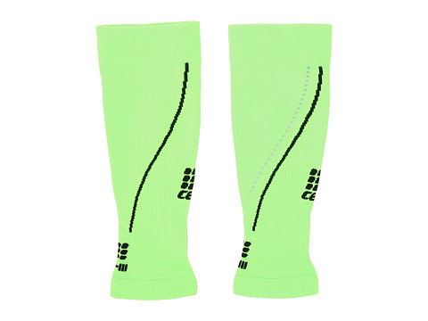 CEP - Progressive + Night Calf Sleeves 2.0 (Flash Green/Black) Running Sports Equipment