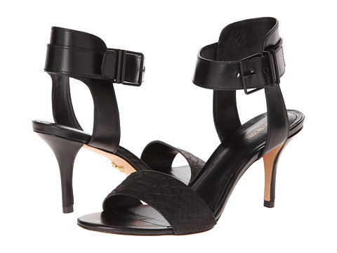 Pour La Victoire - Quin (Black Matt Python/Box Calf) High Heels