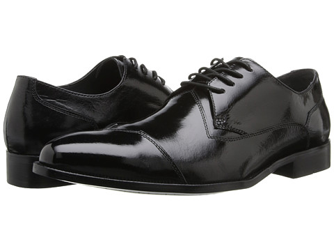 Stacy Adams - Steadman (Black Buffalo Leather) Men's Shoes
