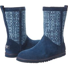 UGG Lo Pro Short Woven (Denim Suede) Footwear