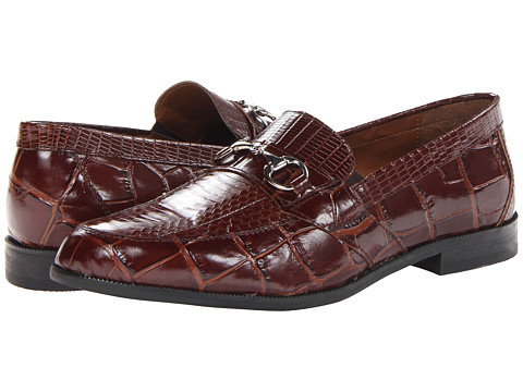 Stacy Adams - Servino (Cognac Genuine Snake Skin w/ Corcodile/Lizard Print) Men