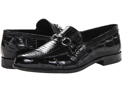 Stacy Adams - Servino (Black Genuine Snake Skin w/ Corcodile/Lizard Print) Men's Shoes
