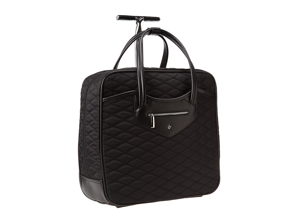 KNOMO London - Nassau Wheeled Brief Carry On Case (Black) Carry on Luggage
