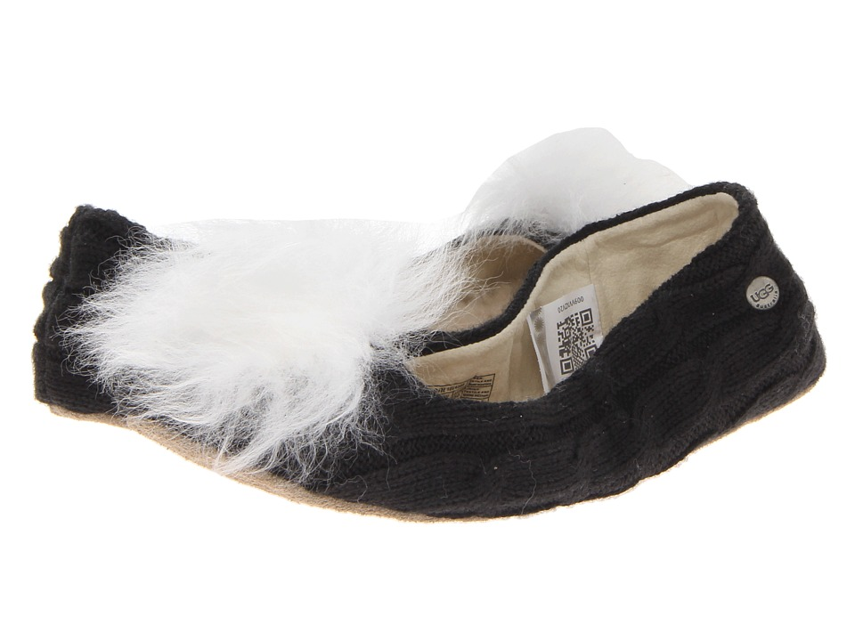UGG - Andi (Black Knit) Women's Flat Shoes