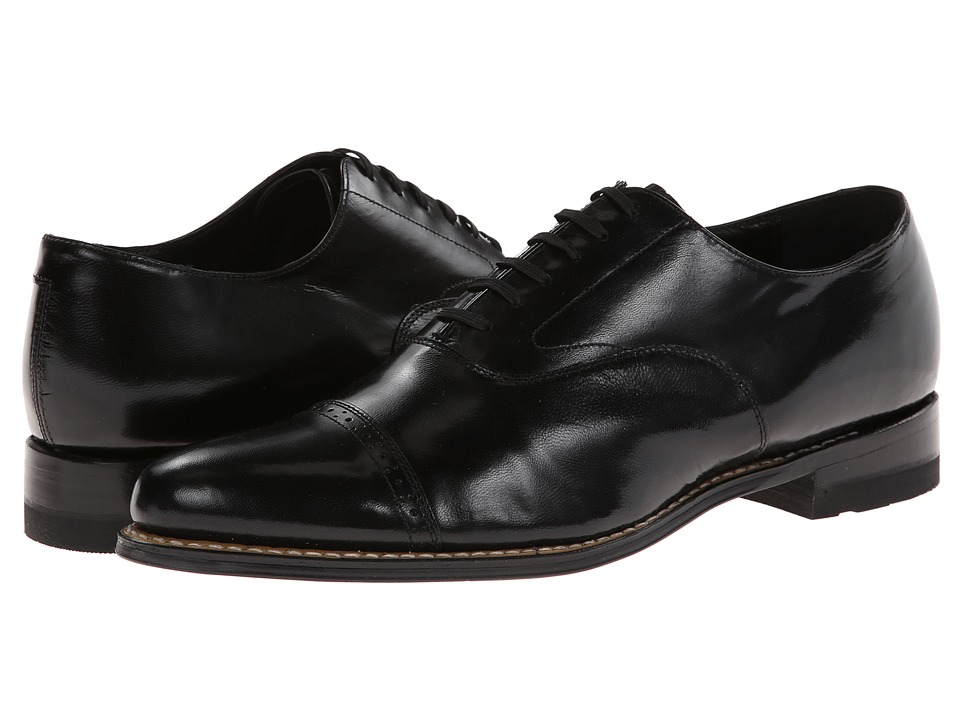 Stacy Adams - Concorde (Black Kidskin Leather) Men's Lace Up Cap Toe Shoes
