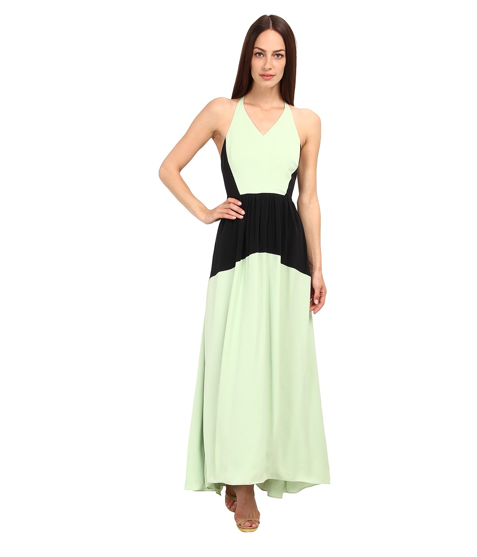 tibi - Washed Matte Drape Colorblocked Long Dress (Mojito Multi) Women's Dress