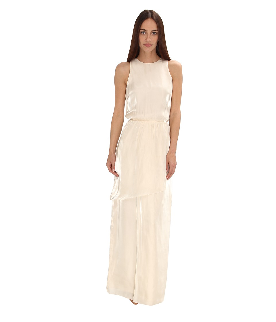 tibi - Flume Asymmetrical Wrap Dress (Pearled Ivory) Women's Dress
