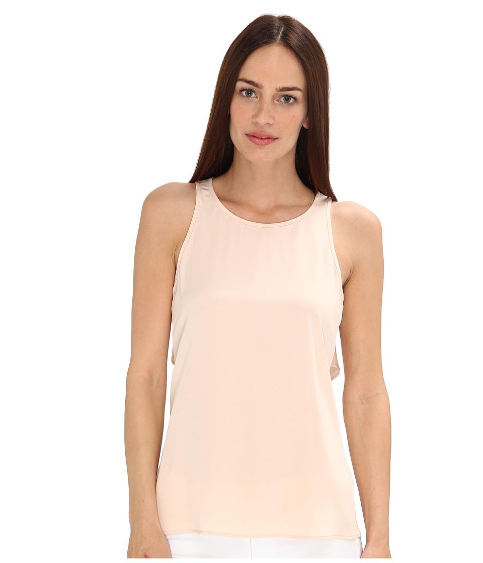 tibi - Heavy Washed Silk CDC Cape Back Top (Pale Blush) Women's Sleeveless