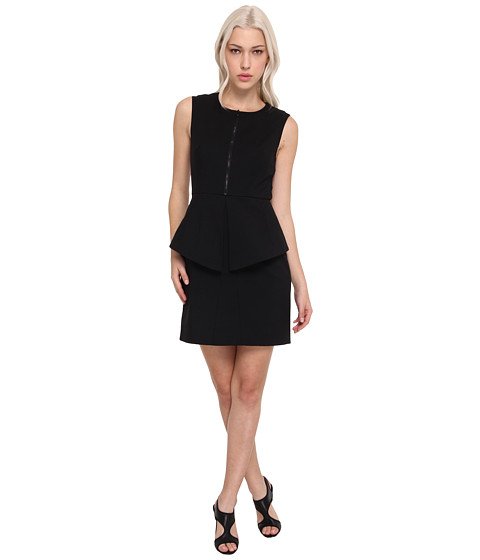 tibi - City Stretch Sleeveless Dress w/ Zipper (Black) Women's Dress