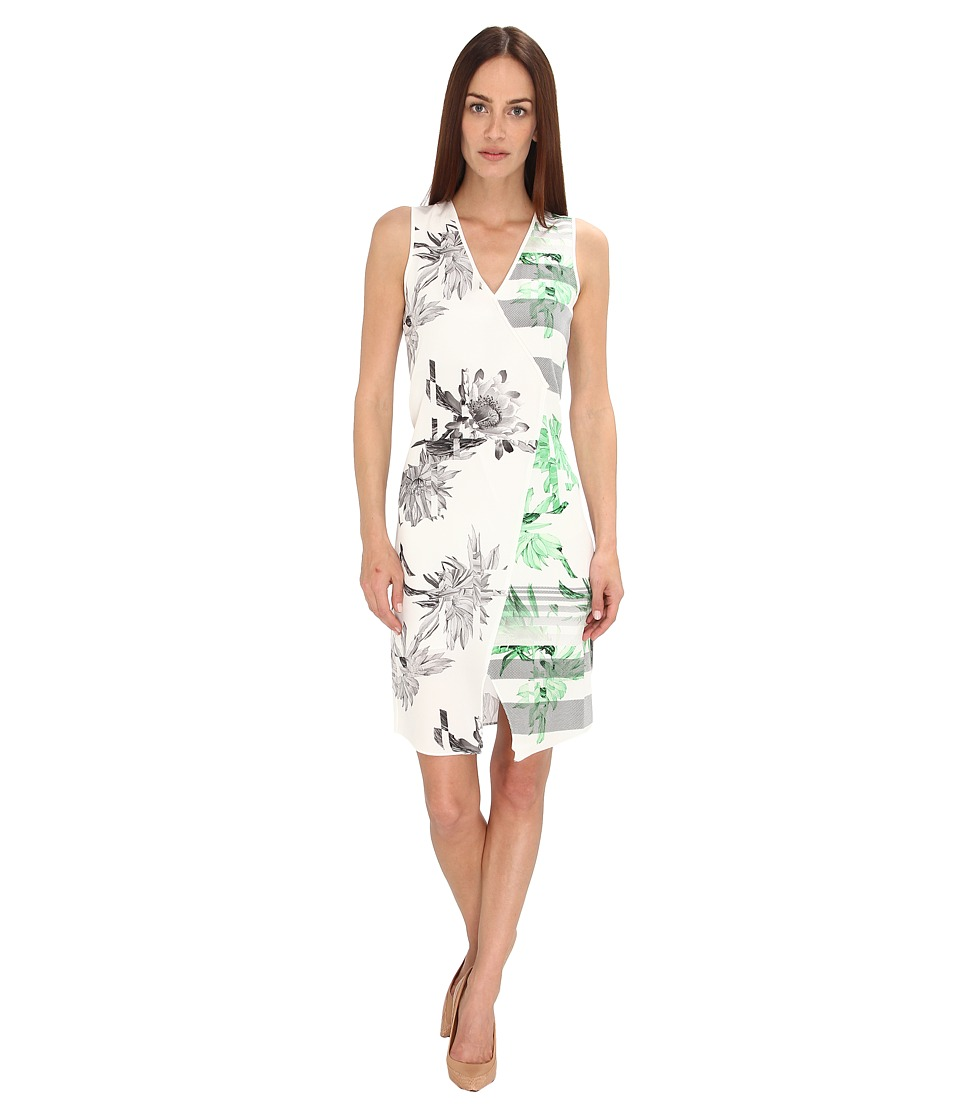 tibi - Sierra On CDC Dress w/ Elastic Detail (Black/Bright Peridot Multi) Women's Dress