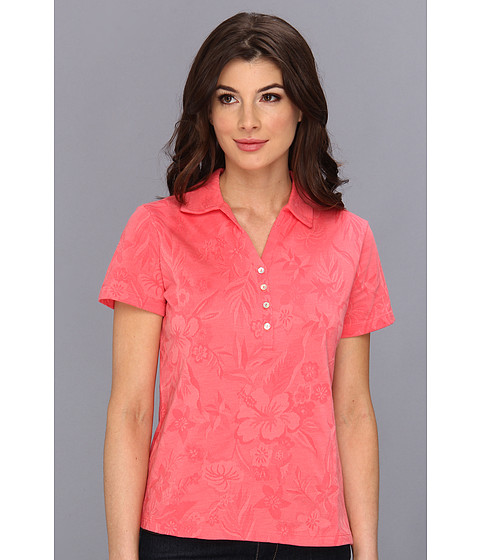 Caribbean Joe - S/S Jacquard Polo (Hot Sun) Women