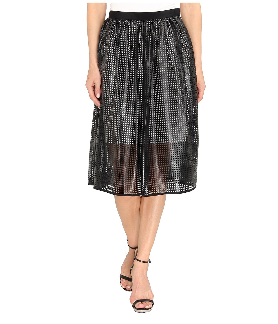 tibi - Pavement Skirt (Black/Ivory Multi) Women's Skirt