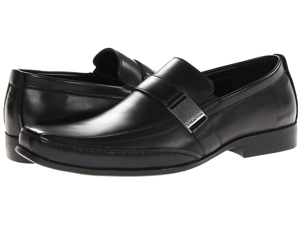 Kenneth Cole Reaction - Money Down (Black Synthetic) Men's Slip on Shoes