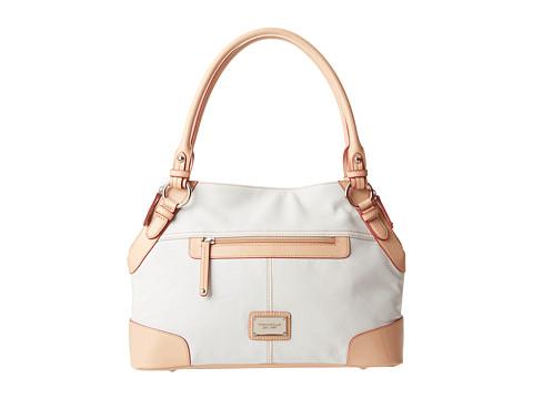 Tignanello All Star Shopper (White/Vachetta) Shoulder Handbags