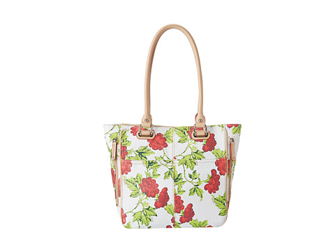 Tignanello - Bed Of Roses Tote (Red Roses) Tote Handbags