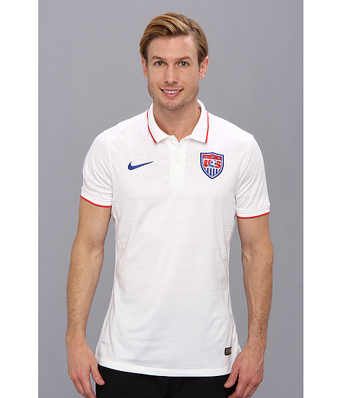 Nike - USA S/S Home Match Jersey (Football White/Game Royal) Men's Short Sleeve Pullover