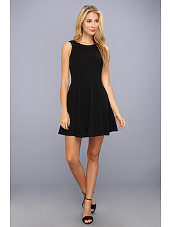SALE! $144.99 - Save $145 on Nicole Miller Brice Satin Crepe Dress (Black) Apparel - 50.00% OFF $290.00